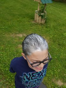 gray hair spray for stan lee costume