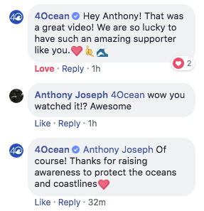 4ocean comments on review video